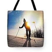 The Skier Tote Bag