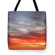 The Sky Is Smoking Hot In Widescape Tote Bag
