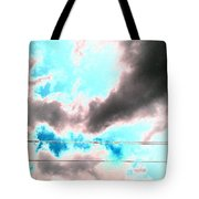 the sky...She called to me  Tote Bag