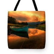 The Sky's On Fire Tote Bag