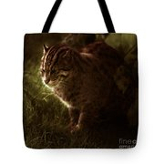 The Sleepy Wild Cat Tote Bag