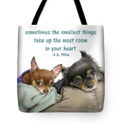 The Smallest Things Square Format Tote Bag