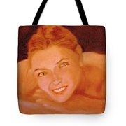 The Smiling Girl Tote Bag