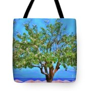 The Smiling Tree Of Benitses Tote Bag