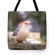The Smiling Woodpecker  Tote Bag