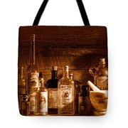 The Snake Oil Shop - Sepia Tote Bag