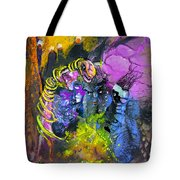 The Snake The Rose And The Black Angel Tote Bag