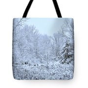 The Snow Falls To The Trees Tote Bag