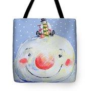 The Snowman's Head Tote Bag