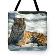 The Snowy Lion Tote Bag