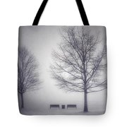 The Soft Breath Of Winter Tote Bag