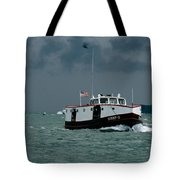 The Sonny S Returning From Lonz Winery On Middle Bass Island Tote Bag