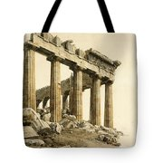 The South-east Corner Of The Parthenon. Athens Tote Bag