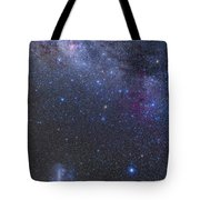 The Southern Sky And Milky Way Tote Bag