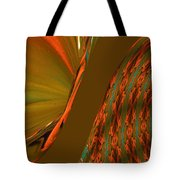 The Space Between Two Forces Abstract Tote Bag