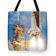 The Space Shuttle Discovery And Its Seven Tote Bag