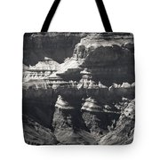 The Spectacular Grand Canyon Bw Tote Bag