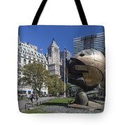 The Sphere Batterie Park Nyc Tote Bag