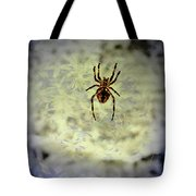 The Spider Waits Tote Bag