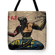 The Spirit Of Detroit Statue Recycled Michigan License Plate Art Homage Tote Bag
