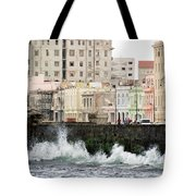 The Spume At Malecon Tote Bag