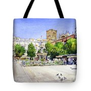 The Square In Summer Tote Bag