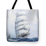 The Square-rigged Wool Clipper Argonaut Under Full Sail Tote Bag