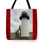 The St. Joseph Lighthouses In Michigan Tote Bag
