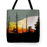 The Stained Glass Forest Tote Bag