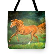 The Stallion-horse Art Painting  Tote Bag
