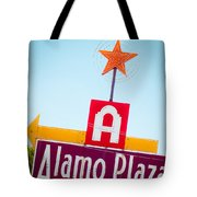 The Star Of Alamo Plaza Tote Bag