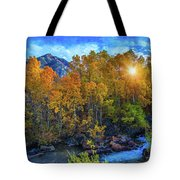 The Stars Of Autumn Tote Bag