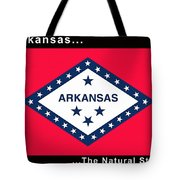 The State Flag Of Arkansas Tote Bag