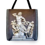 The Statue Of Laocoon And His Sons At The Vatican Museum Tote Bag