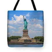 The Statue Of Liberty In New York City Tote Bag