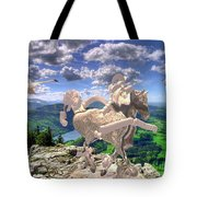 The Statue Of The Rock Tote Bag