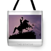 The Statue Poster Tote Bag