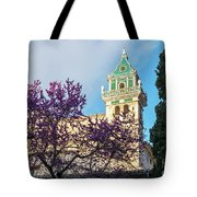 The Steeple Of The Valldemossa Charterhouse In Spring Tote Bag
