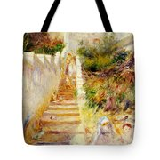 The Steps In Algiers Tote Bag by Pierre Auguste Renoir
