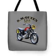 The Steve Mcqueen Isdt Motorcycle 1964 Tote Bag