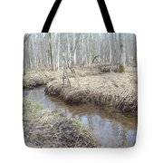 The Stickman By The Stream Tote Bag by Carrie Viscome Skinner