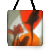 The Still Life With The Shadows Of The Flowers. Tote Bag