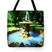 The Stone Fountain Tote Bag