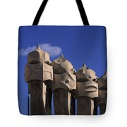 The Strangely Shaped Rooftop Chimneys Tote Bag