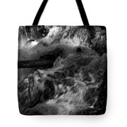 The Stream In Bw Tote Bag