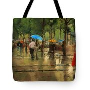 The Streets Of Paris In The Rain Tote Bag