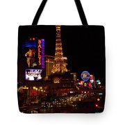 The Strip At Night 2 Tote Bag