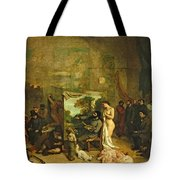 The Studio Of The Painter, A Real Allegory Tote Bag