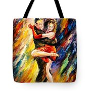 The Sublime Tango - Palette Knife Oil Painting On Canvas By Leonid Afremov Tote Bag