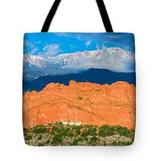 The Summit In The Mist  Tote Bag